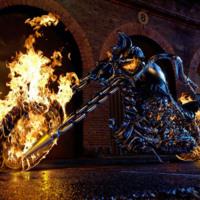 Ghost Rider Burning Bike