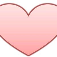 Large Peach Heart