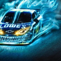 Jimmie Johnson Blue Lightning