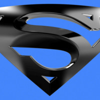 Superman Logo in Steel