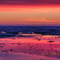 Orange & Pink Antartic Sunset