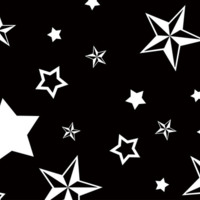 Black & White Nautical Stars