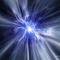Blue Orb Light Burst