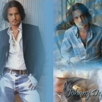 Johnny Depp in Blue Jeans