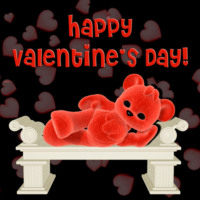 Valentines Red Teddy Bear