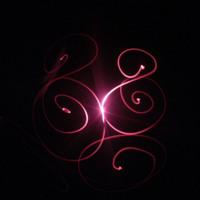 Dark Pink Light Swirls on Black