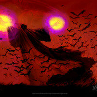 Dark Red Death & Bats