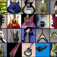Electric Guitar Collage