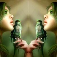 Lady Green Bird