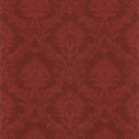 Rust Floral French Wallpaper