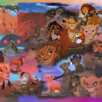 The Lion King Simba & Nala Collage