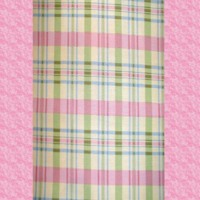 Girly Pink, Green & Blue Plaid