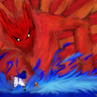 Naruto Water & Fire Fight