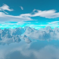 Snowy Mountain Tops & Blue Sky