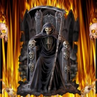 Grim Reaper in Flames
