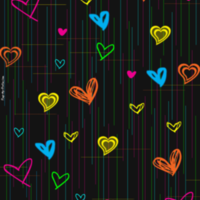 Colorful Scribble Hearts