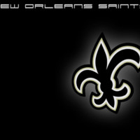 New Orleans Saints Logo Black & White
