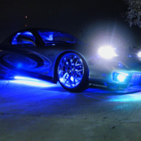 Blue Neon Car