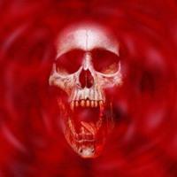 Red Vampire Skull