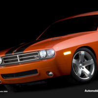 Red Dodge Challenger