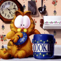 Garfield Stealing a Cookie