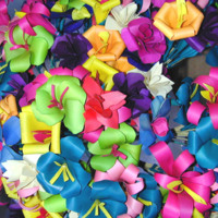 Colorful Ribbon Flowers