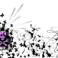 Lavender Skulls & Butterflys