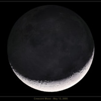 Dark Crescent Moon