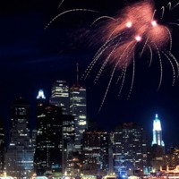 New Years Fireworks Over New York City
