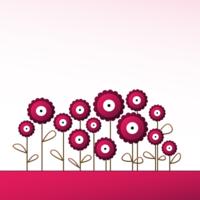 Fuschia mod flowers