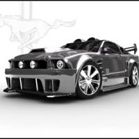 Steel Grey Mustang
