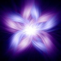 Blue & Purple Light Flower