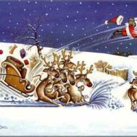 Santa Sleigh Crash