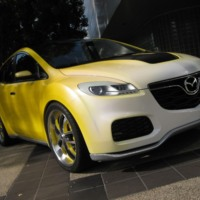 Yellow Mazda CX7
