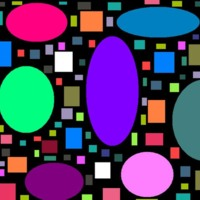 Colorful Shapes on Black