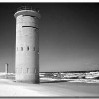 Rehoboth Beach Delaware in Black & White