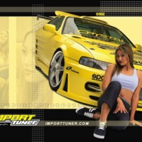 Yellow Sportscar & Girl