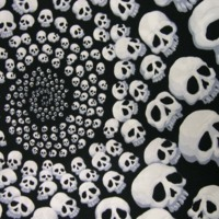White Skulls in Swirl