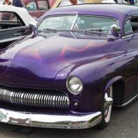 Purple Classic Lowrider Car