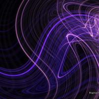 Purple Light Swirls on Black