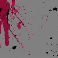 Black & Pink Splatter
