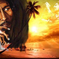 Bob Marley-Beach Sunset