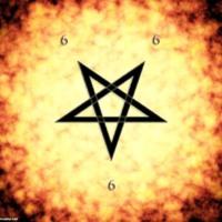 Satanic Pentagram in Flames