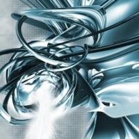 Silver Twisted Abstract
