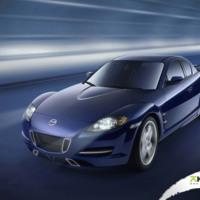 Blue Mazda Sportscar