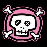 Pink & White Skull