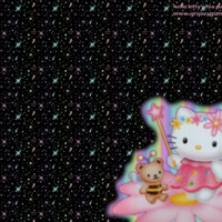 Hello Kitty Pastel Rainbow & Stars