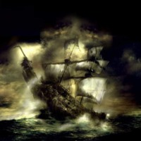 Dark Pirate Ship