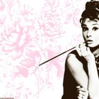Audrey Hepburn w/ Pink Floral