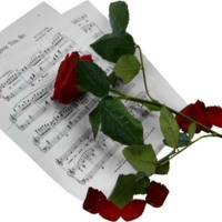 Rose and Sheet Music